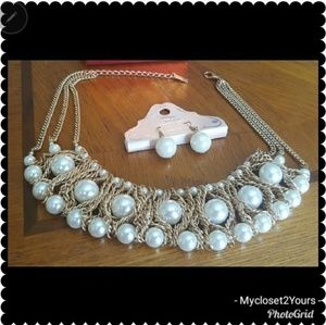 ❤MIKA Pearl Set❤Necklace and Earrings set nwt ❤